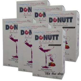 Donut Collagen 10000 mg กลิ่นมิกซ์เบอร์รี่ (10ซองx6กล่อง)
