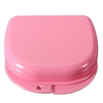 Harga Dental Health Dentures Orthodontic Retainer mouthguards Storage Box Case (Pink)