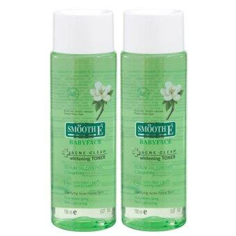 Smooth E Acne Clear Whitening Toner 150ml (2ขวด)