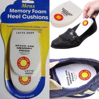 แผ่นโฟม รองส้นเท้า ลดแรงกระแทก เจ็บส้นเท้า (สำหรับรองเท้าผู้ชาย) Memory Foam Heel Cushions for Mens (แพ็คคู่)