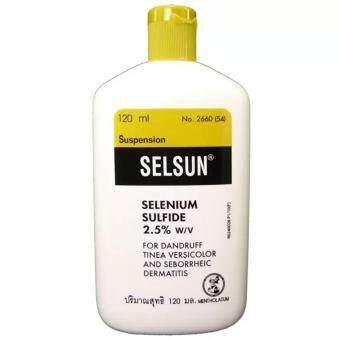 Selsunเซลซั่นแชมพูยา กำจัดรังแคและกลากเกลื้อนที่ผิวหนัง120ml