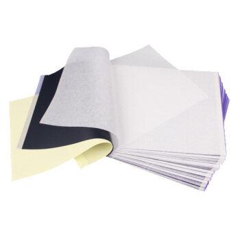 เซ็ต 100 สักลายฉลุกระดาษถ่ายเอกสารคุณภาพสูงอุปกรณ์ขนถ่าย