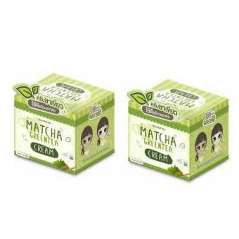 Matcha Greentea Cream 10 g.ครีมชาเขียว บำรุงหน้ากระจ่างใส (2กล่อง)