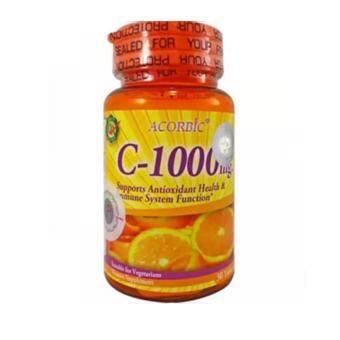 Acorbic VITAMIN C-1000mg . ผลิตภัณฑ์เสริมอาหาร วิตามิน-ซี 1000 มก. 1 กระปุก (30 เม็ด/1กระปุก)