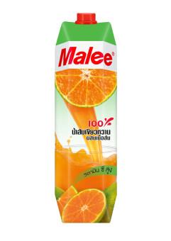 ขายยกลัง! Malee น้ำส้มเขียวหวาน 100% ขนาด 1000มล. (12 กล่อง)