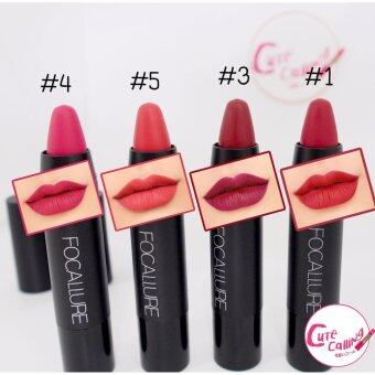Lip ลิปสติก Focallure ลิป เนื้อแมท กันน้ำ Set 4 สี สุดคุ้ม (มีVideoสินค้าจริง)