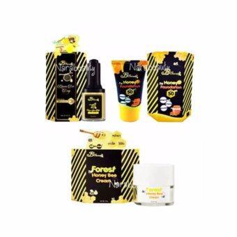 B'Secret Queen Bee Drop บีซีเคร็ท น้ำหยดนางพญา 30ml. (1 ขวด) +Honey Bee Cream บี ซีเคร็ท ครีมน้ำผึ้งป่า ขนาด 15 กรัม (1 กล่อง) + Foundation W2M ครีมกันแดดน้ำผึ้งป่ากันแดดละลายได้ 20g. (1กล่อง)