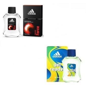 Adidas Team Force Adidas for men 100 ml.+ Adidas Get Ready for Men EDT 100 ml. พร้อมกล่อง