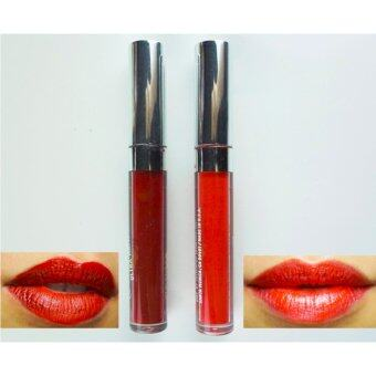 AKI Matte Liquid Lipstick ลิปสติกเนื้อแมท แพ็ค 2 แท่ง 2 สี เม็ดสีชัด ทาง่าย ไม่ตกร่อง # 07