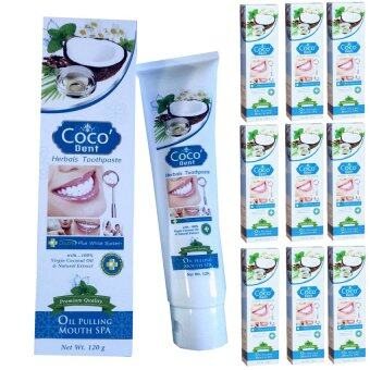 Coco'Dent ยาสีฟัน โคโค่เด็นท์ 120 กรัม - 10 ชุด