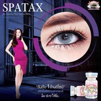คอนแทคเลนส์ตาฝรั่ง รุ่น Spatex Gray ลายยอดนิยม (สีเทา) ค่าสายตา 0.00 พร้อมตลับใส่