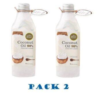 Phutawan ภูตะวัน Coconut Oil Cold Pressed น้ำมันมะพร้าวสกัดเย็น บริสุทธิ์100% - 100ml - แพ็คคู่