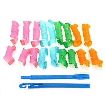 WiseBuy 18 ผมยาวดัดเกลียวม้วนกลม Curlformers เครื่องมือวิเศษทรงกลม