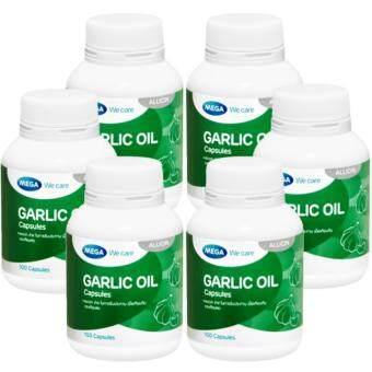 Mega Garlic Oil เมก้า น้ำมันกระเทียม 100 Capsule x 6 Bottle