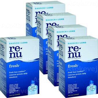 Renu Fresh Multi Purpose Solution 120 ml (5ขวด) รีนิว เฟรช น้ำยาล้างคอนแทคเลนส์