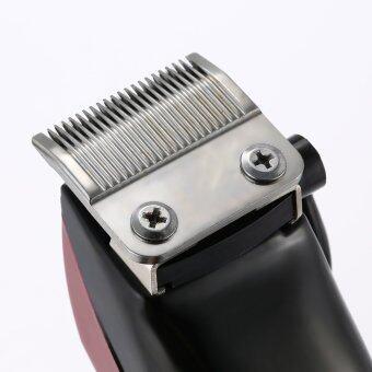 ผมโกนผมตัดอาชีพเครื่องตัดไฟฟ้า Shearer ไทเทเนียมใบมีดสำหรับผู้ใหญ่เด็กเงียบมากด้วย 4 หวีอียูปลั๊กจำกัด