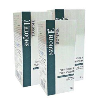 Smooth E Homme Extra White & Youth Booster Gel Cream 50 กรัม (3 กล่อง)