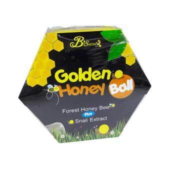 B'Secret Golden Honey Ballมาส์กลูกผึ้ง บี ซีเคร็ท กลิ้งแล้วหนืด ยืดแล้วมาส์ก เพื่อผิวสะอาดเนียนใส ชุ่มชื้น บรรจุกล่องละ4ลูก (1กล่อง)