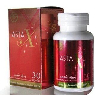 Asta X ผลิตภัณฑ์เสริมอาหารบำรุงร่างกายจากสาหร่ายแดง 30 แคปซูล