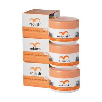 Rebirth Placenta & Vitamin E Day Cream ครีมรกแกะ 100g ( 3 กล่อง)