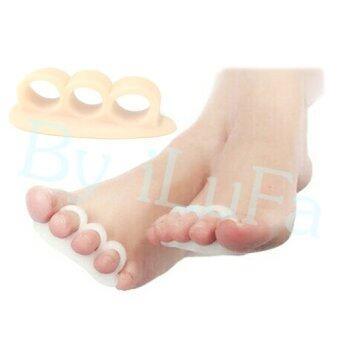 iLuFa ซิลิโคนคั่นนิ้วเท้า สีเบจ ( 2 คู่ )