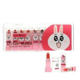 Peiyen Set Colour Mood Fashion Little Lipstck สีมชมพู 10 แท่ง 1 กล่อง(Pink)