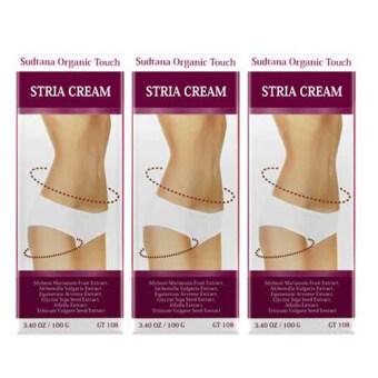 Sudtana Organic Touch Stria Cream ครีมบำรุงสำหรับผิวแตกลาย (3 ชิ้น)
