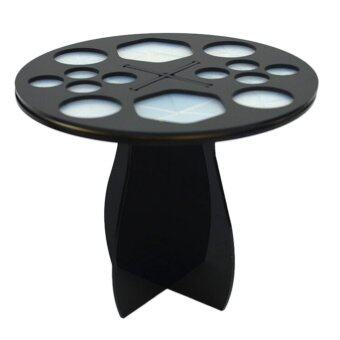 มูลนิธิเครื่องสำอางแต่งหน้าแปรงสังเคราะห์ตัวบูธเครื่องออแกไนเซอร์มีไม้แขวนเสื้อสีดำ