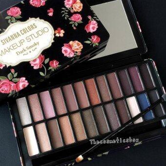 Sivanna พาเลทอายแชโดว์กล่องเหล็ก 24 สี Makeup Studio Eyeshadow No.1 Dark Smoky