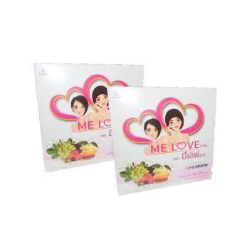 Me Love Collagen Mix มีเลิฟคอลลาเจนมิ๊ก รสนมวนิลา ผลิตภัณฑ์เสริมอาหาร คอลลาเจนผงมีเลิฟมิ๊ก 2 กล่อง x80 ซอง