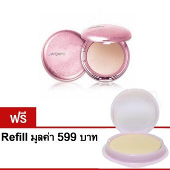 Peripera - My Skin Pact SPF 30, PA++แป้งพัฟเพอริเพอรร่า13กรัม พร้อม รีฟิล# light beigeสำหรับผิวขาว