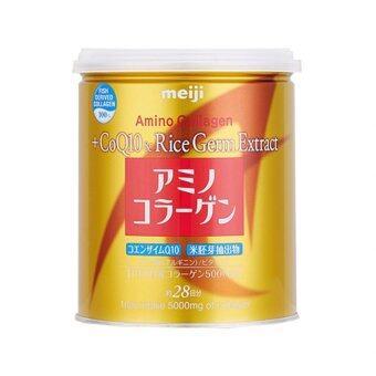 Meiji Amino Collagen CoQ10 & Rice Germ Extract คอลลาเจนผงจากญี่ปุ่น 5000 มก. + โคคิวเท็นและสารสกัดจากจมูกข้าว 200g. (1กระป๋อง)