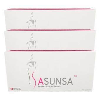 Sasunsa ซาซันซ่า ผลิตภัณฑ์ลดน้ำหนัก สำหรับ 42 วัน (14 ซอง x 3 กล่อง)