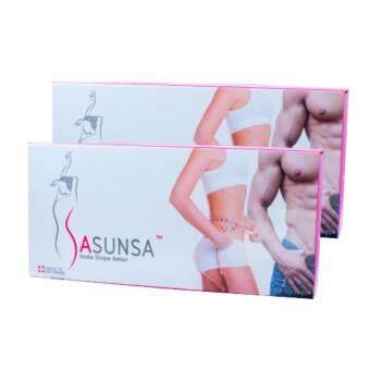 Sasunsa ซาซันซ่า กล่องใหม่ ผลิตภัณฑ์ลดน้ำหนัก 2 กล่อง (14 ซอง/กล่อง)