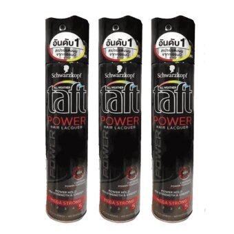 Schwarzkopf Taft POWER Power Haarlack Hair Spray Mega Stark 250 ml (3 ขวด)