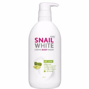 Snail White Cream Body Wash ครีมอาบน้ำเนื้อโลชั่น สูตร Anti-Aging 500มล. ของแท้ 100%