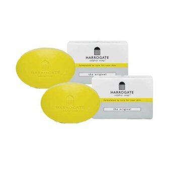 Harrogate soap ฮาโรเกต สบู่ซัลเฟอร์ สบู่น้ำแร่ รักษาสิว x2 50 g