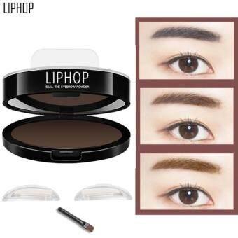 Liphop Eyebrow Stamp แสตมป์ปั้มคิ้ว ปั้มคิ้ว ปั้มคิ้วทรงเกาหลี #02 สีน้ำตาลเข้ม