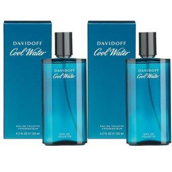 Davidoff Cool Water For Men+Davidoff Cool Water For Men 125 ml. พร้อมกล่อง(2 ขวด)