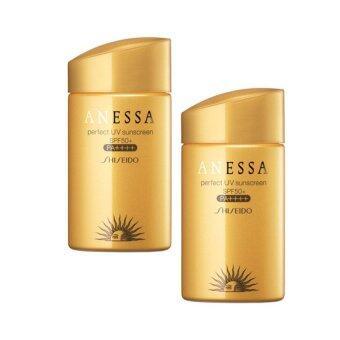 SHISEIDO Anessa Perfect Essence Sunscreen SPF50+PA+++ กันแดดชิทอง ครีมกันแดดอเนสซ่า สีทอง กันเหงื่อ กันน้ำ 60ml. ( 2 ขวด)