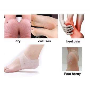 ซิลิโคนถนอมส้นเท้า Medical Grade ยืดหยุ่นสูง ซิลิโคนรองส้นเท้า รักษาส้นเท้าแตก ถนอมดูแลเท้า ปวดเท้า รองช้ำ 1 คู่ นำเข้า by Romario Groomsmen (คละสี)