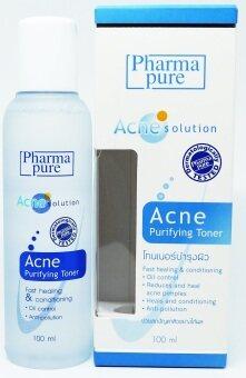PharmaPure Acne Solution Acne purifying Toner 100ml. โทนเนอร์บำรุงผิว