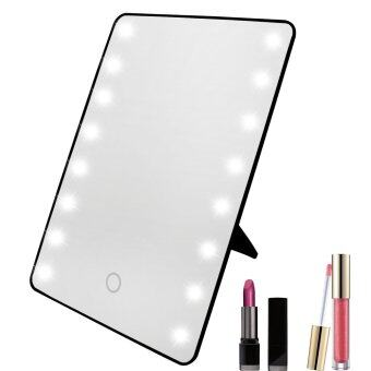 Xcellent Global 16 LED Makeup Mirror Cosmetic Vanity Mirror Touch Screen Dimmable Black HG158B