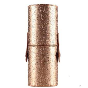 Coconie เคสแบบพกพาเครื่องสำอางแต่งหน้าเก็บเครื่องหนังกระเป๋าออแกไนเซอร์ปัดถ้วยถือทองจัดส่งฟรี