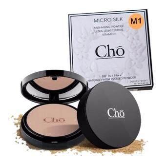 (M1-ผิวขาว) CHO แป้งโช ไมโครซิลค์ แป้งพัฟหน้าเด็ก MICRO SILK ANTI-AGING POWDER 1 ตลับ