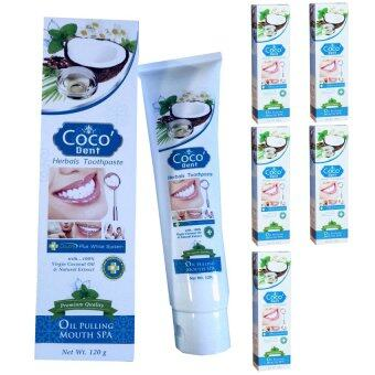 Coco'Dent ยาสีฟัน โคโค่เด็นท์ 120 กรัม - 6 ชุด