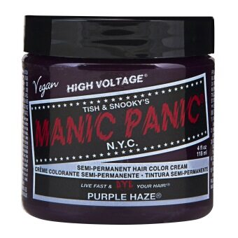 Harga MANIC PANIC - CLASSIC CREAM SEMI PERMANENT HAIR COLOR CREAM E 118 ml (1 Jar) (PURPLE HAZ)