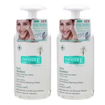 SMOOTH E EXTRA SENSITIVE MAKEUP CLEANSING WATER 200ML (2ขวด)
