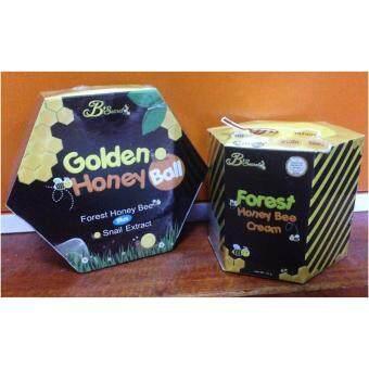 B'Secret Forest Honey Bee Cream ครีมน้ำผึ้งป่า บรรจุ 15 กรัม(1 กล่อง) +B'Secret Golden Honey Ball มาส์กลูกผึ้ง บี ซีเคร็ท (1 กล่อง)