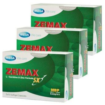 Mega We Care Zemax SX อาหารเสริมฟิตความเป็นชาย (3กล่อง/ 30เม็ด)
